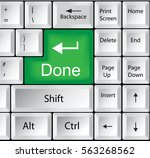 computer keyboard with done | Shutterstock . vector #563268562