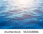sea wave close up  low angle... | Shutterstock . vector #563268886