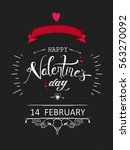 happy valentine's day  vector... | Shutterstock .eps vector #563270092