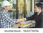 engineer and businessman... | Shutterstock . vector #563273056
