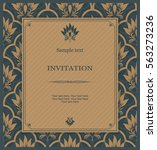 vintage invitation card with... | Shutterstock .eps vector #563273236