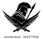 Spartan With Shield And Spear.