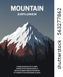 mountain on a background of an... | Shutterstock .eps vector #563277862