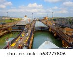The First Lock Of The Panama...