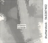 black and white grunge effect.... | Shutterstock .eps vector #563287402