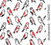 Vector Pattern With Cute Birds...