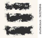black and white grunge effect... | Shutterstock .eps vector #563296846