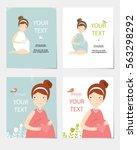 set vector illustration with... | Shutterstock .eps vector #563298292
