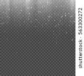 silver stardust. falling stars. ... | Shutterstock .eps vector #563300272