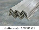 steel corner profile | Shutterstock . vector #563301595
