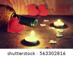 Valentine's Day Candles Wine