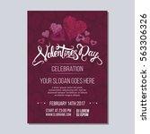 happy valentine day poster... | Shutterstock .eps vector #563306326