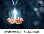 team leader  influencer ...   Shutterstock . vector #563308006