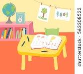 kindergarten preschool... | Shutterstock .eps vector #563308522