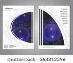 vector modern brochure with... | Shutterstock .eps vector #563312296