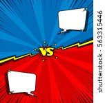 comic book versus background... | Shutterstock .eps vector #563315446