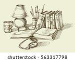 vintage lifestyle design. stack ... | Shutterstock .eps vector #563317798