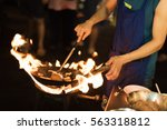 close up movement hand the chef ... | Shutterstock . vector #563318812