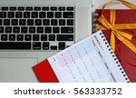 concept monthly calendar august ... | Shutterstock . vector #563333752