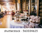 candy bar in the restaurant | Shutterstock . vector #563334625