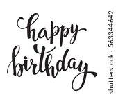 happy birthday  lettering for...   Shutterstock .eps vector #563344642
