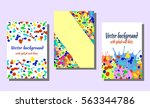 set of hand drawn artistic... | Shutterstock .eps vector #563344786