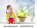 Cute Girl Watering First Sprin...