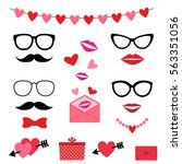 Valentine Photo Booth Vector...