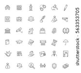 modern thin line icons of law...