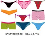 set of colorful woman panties | Shutterstock .eps vector #56335741