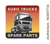 truck logo | Shutterstock .eps vector #563357716
