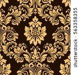 floral pattern. wallpaper... | Shutterstock .eps vector #563358355