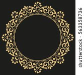 decorative line art frame for... | Shutterstock .eps vector #563358736