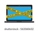 do not cross cyber crime | Shutterstock .eps vector #563360632