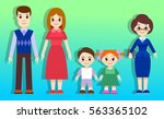 a family. characters for... | Shutterstock .eps vector #563365102