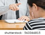 businesswoman getting... | Shutterstock . vector #563366815