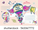 image of vector color balloon... | Shutterstock .eps vector #563367772