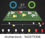 football match statistic | Shutterstock .eps vector #563375308