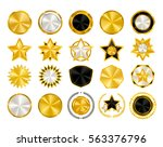 gold  black and white vintage... | Shutterstock .eps vector #563376796