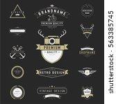 vintage vector design elements. ... | Shutterstock .eps vector #563385745