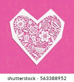 valentine's day background with ... | Shutterstock .eps vector #563388952
