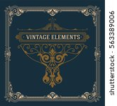 vintage logo and frame template | Shutterstock .eps vector #563389006