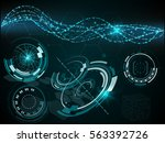 hud vector background  set of...