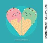 Ice Cream Cones Cute Valentines ...