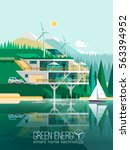 green energy and eco friendly... | Shutterstock .eps vector #563394952