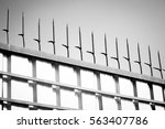 twisted fence blurred | Shutterstock . vector #563407786