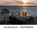 cancun mexico tequila shots on... | Shutterstock . vector #563408806