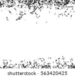 white musical background with... | Shutterstock .eps vector #563420425