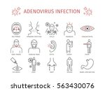 adenovirus infection. symptoms  ... | Shutterstock .eps vector #563430076