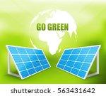 solar energy panel vector... | Shutterstock .eps vector #563431642